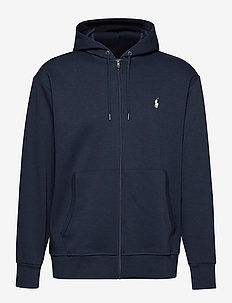 Double-Knit Full-Zip Hoodie - hættetrøjer - aviator navy