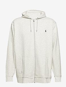 Double-Knit Full-Zip Hoodie - hoodies - lt sport heather