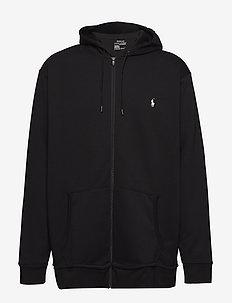 Double-Knit Full-Zip Hoodie - hoodies - polo black
