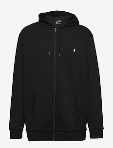 Double-Knit Full-Zip Hoodie - POLO BLACK