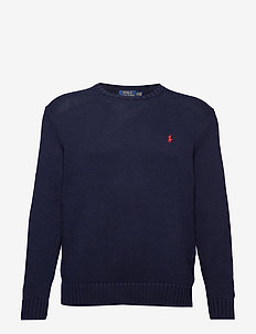 Cotton Crewneck Sweater - HUNTER NAVY