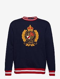 Fleece Graphic Sweatshirt - CRUISE NAVY