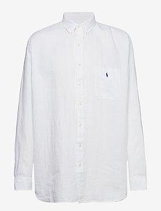 Classic Fit Linen Shirt - PURE WHITE
