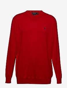 Cotton V-Neck Sweater - MARTIN RED
