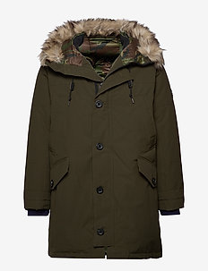 Faux-Fur-Trim Down Parka - ESTATE OLIVE