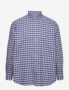 Classic Fit Plaid Oxford Shirt - 4136A DARK COBALT