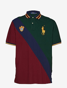 Classic Fit Mesh Polo Shirt - COLLEGE GREEN MUL