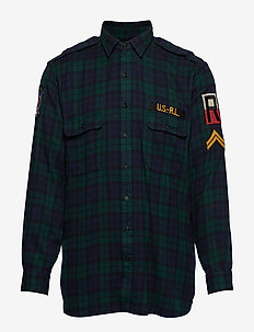 Classic Fit Plaid Workshirt - 3424 PINE/NAVY MU