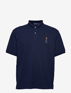 Classic Fit Bear Mesh Polo - CRUISE NAVY