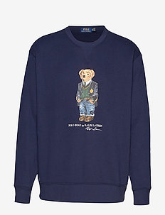 Preppy Bear Fleece Sweatshirt - CRUISE NAVY