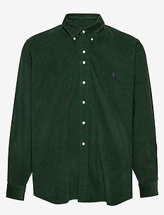 Classic Fit Corduroy Shirt - COLLEGE GREEN