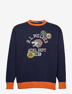 Fleece Graphic Sweatshirt - swetry - dark cobalt