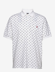 Classic Fit Mesh Polo Shirt - WHITE CLASSIC ANC