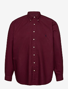 Garment-Dyed Oxford Shirt - casual shirts - classic wine