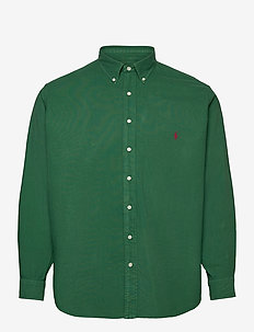 Garment-Dyed Oxford Shirt - basic skjorter - new forest