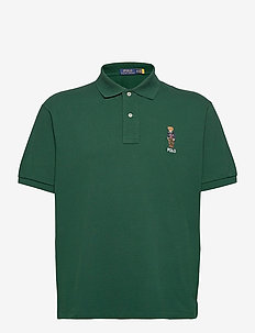 Anorak Bear Mesh Polo Shirt - krótki rękaw - college green