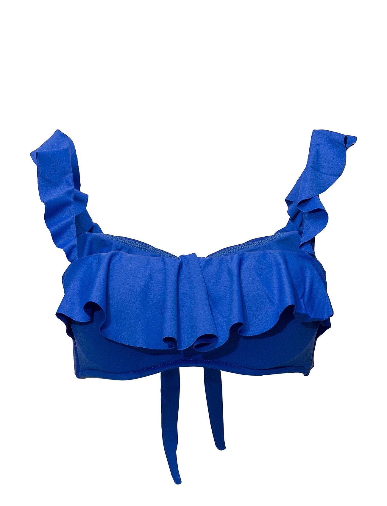 Polo Ralph Lauren Swimwear MODERN SOLIDS RUFFLE OTS BANDEAU BRA W UW