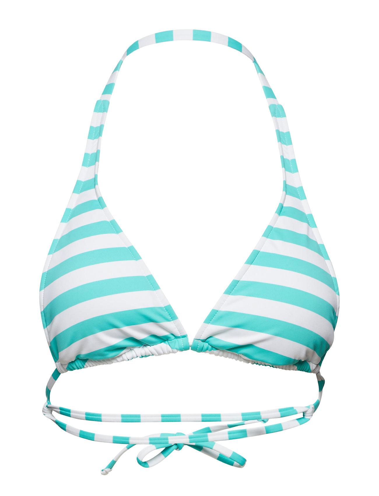 Polo Ralph Lauren Swimwear Awning Stripe Y Back Halter Bra