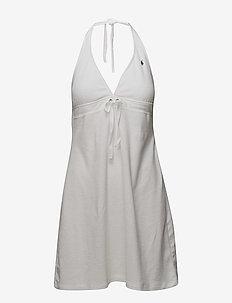 Terry Styles Grommet Halter Dress - WHITE