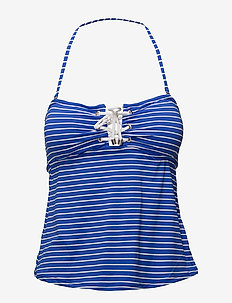 RESORT STRIPES LACED TUBINI W REM CUPS - FRENCH BLUE