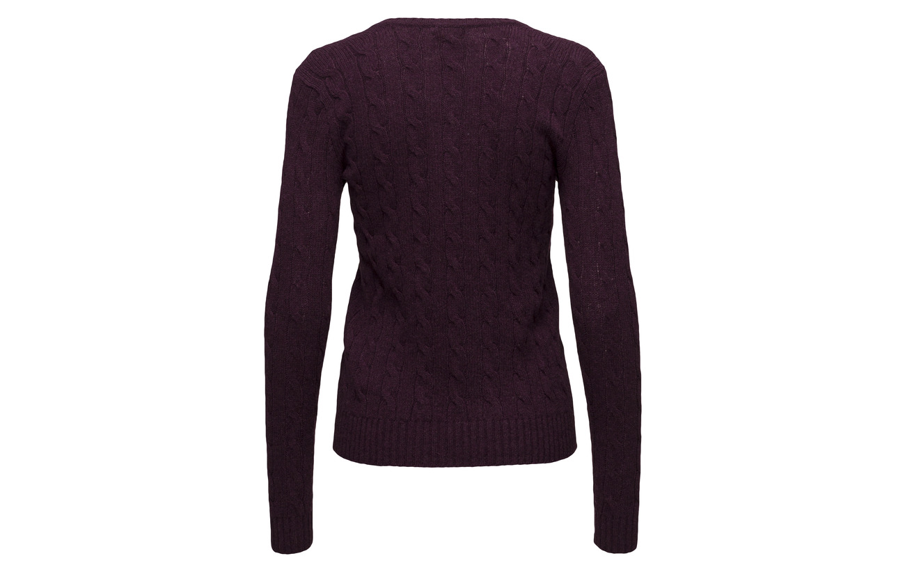 Laine Polo Blue Mérino Lauren Cachemire Cable Sweater 90 New 10 Ralph Wool cashmere Heather 110xPnv