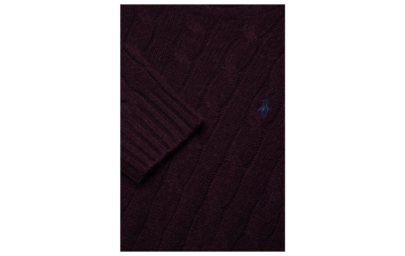 Heathe Cable Elderberry Wool Merinowool 10 Polo Ralph Sweater Lauren 90 cashmere Cachemire EY0xOwZq