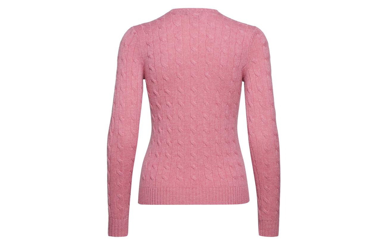 swt Ralph Cachemire lsl Pink Heathe Candy Lauren Cble Polo Classc Cashmre 100 6fw7TT
