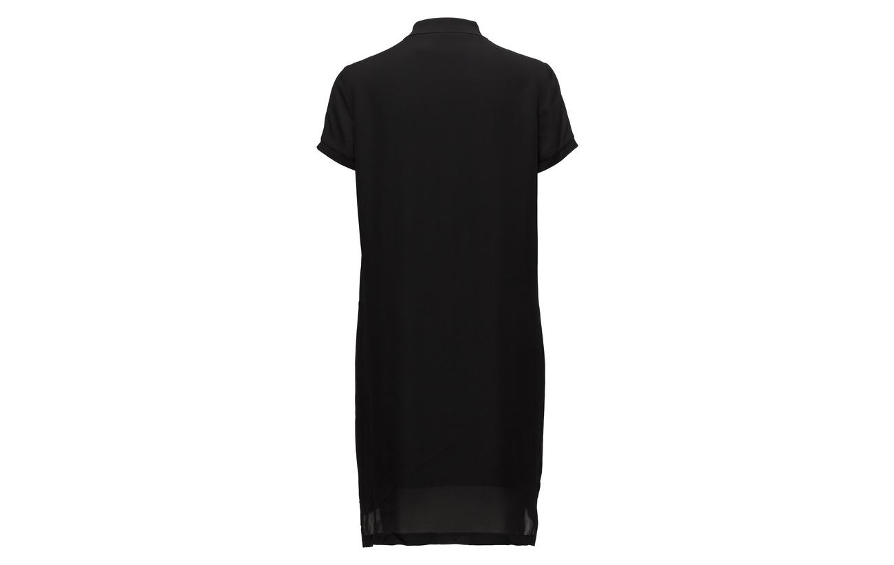 Mulberrysilk Georgette Dress Lauren Silk Polo Ralph 100 Black AxR0UU