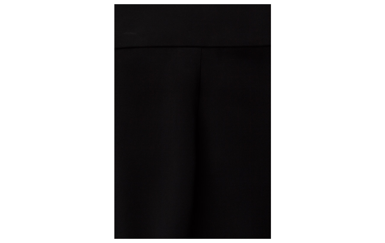 Lauren Elastane 97 Cropped Black 3 Pant Viscose Pleat Inverted Polo Ralph 5qAwF