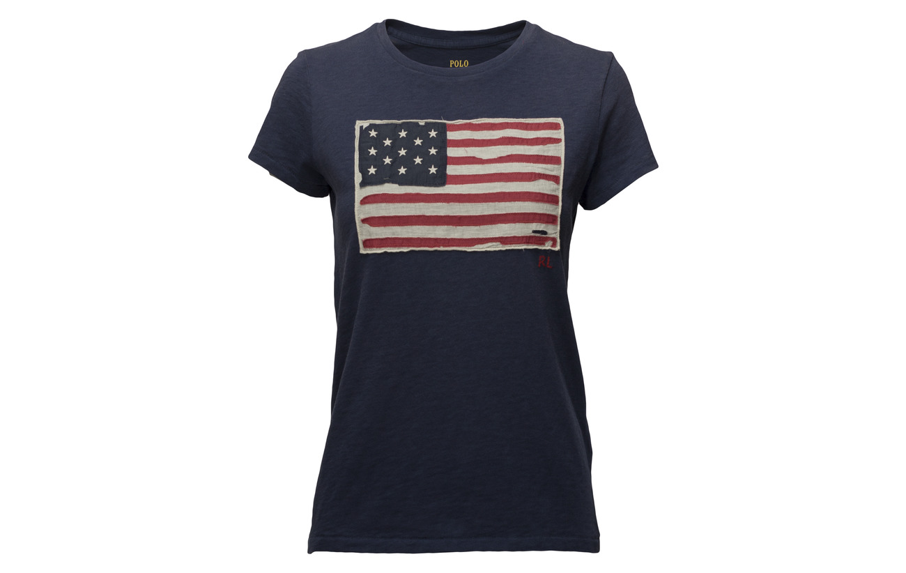 Graphic Lauren Flag shirt Ralph Polo Jersey Coton 100 Nevis T qIgxTAw5