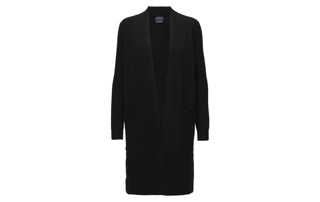 blend Wool Polo Cachemire Ralph Cardigan Lauren 10 Laine Black 90 cashmere WEqTIPq