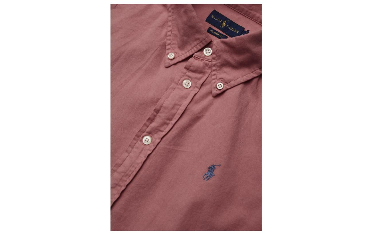 Fit Oxford Ribbon Shirt Polo Pink Coton 100 Relaxed Ralph Lauren qBZZt1A