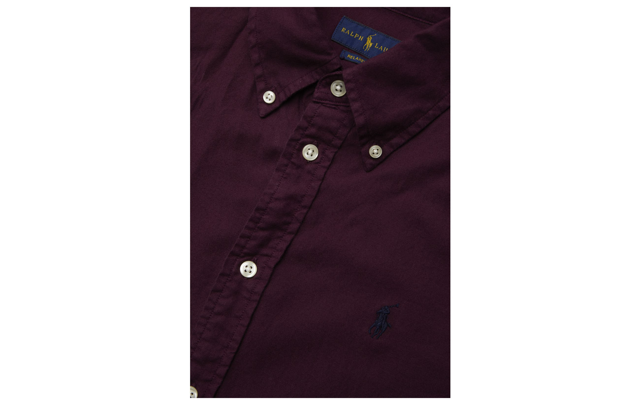 Oxford 100 Lauren Shirt Relaxed Polo Fit Black Ralph Coton z0qn1I