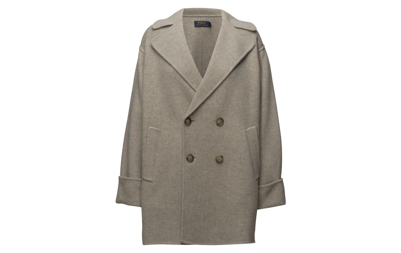 Ralph breasted Nylon Laine Natural Coat 25 Heather 75 Double Polo Merino Lauren dtwqtx1