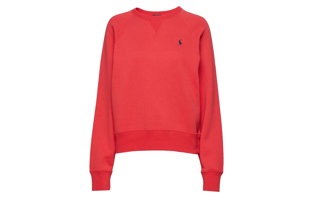 84 16 Pullover Fleece Polyester Lauren Coton Post Evening Red Polo Ralph qfS0wO