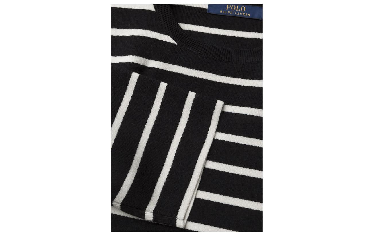 Nylon Sweater Button Polyester Dress Black 23 17 Polo 1 shoulder Ralph Viscose 59 cream Lauren Elastane pqwPSEIxO
