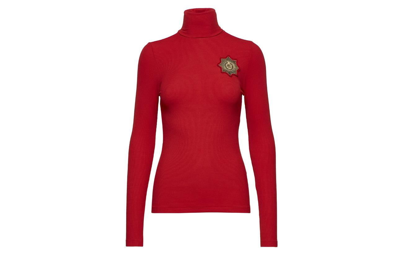 96 Elastane Turtleneck Sweater Ralph Polo Crest Black 4 Modale Lauren pUnqYwz