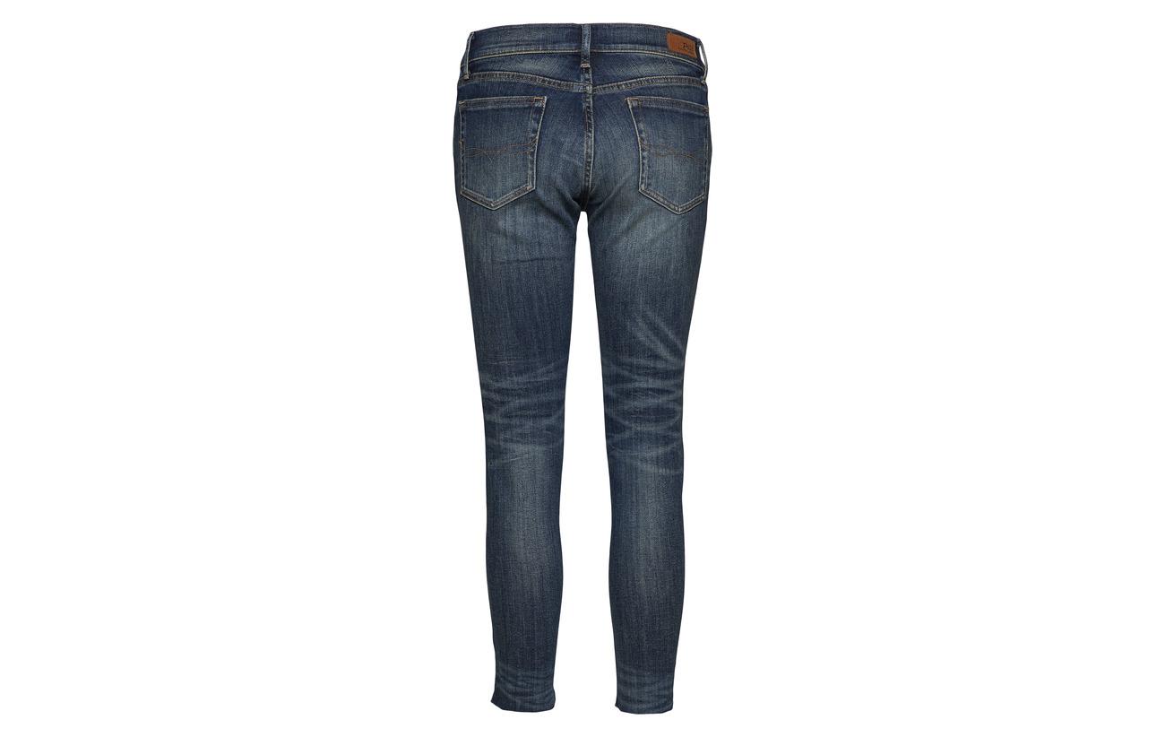 93 Tompkins Lauren 2 Skinny Coton Crop 5 Polyester Ralph Indigo Jean Polo Dark Elastane E58wqRRn