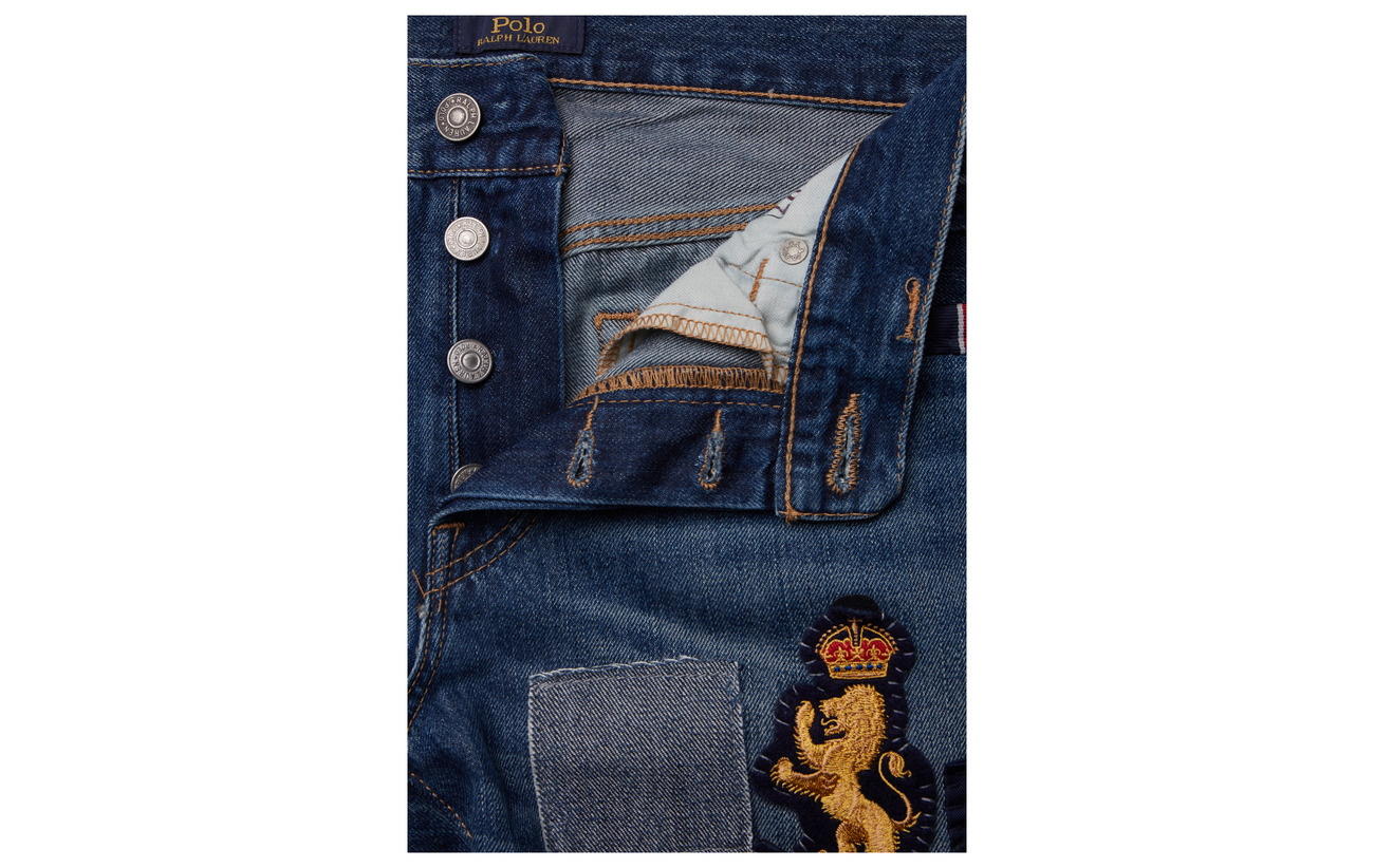 Lyocell Boyfriend Patch 25 Avery Embroidered 75 Indigo Polo Lauren Dark Coton Ralph AqS77