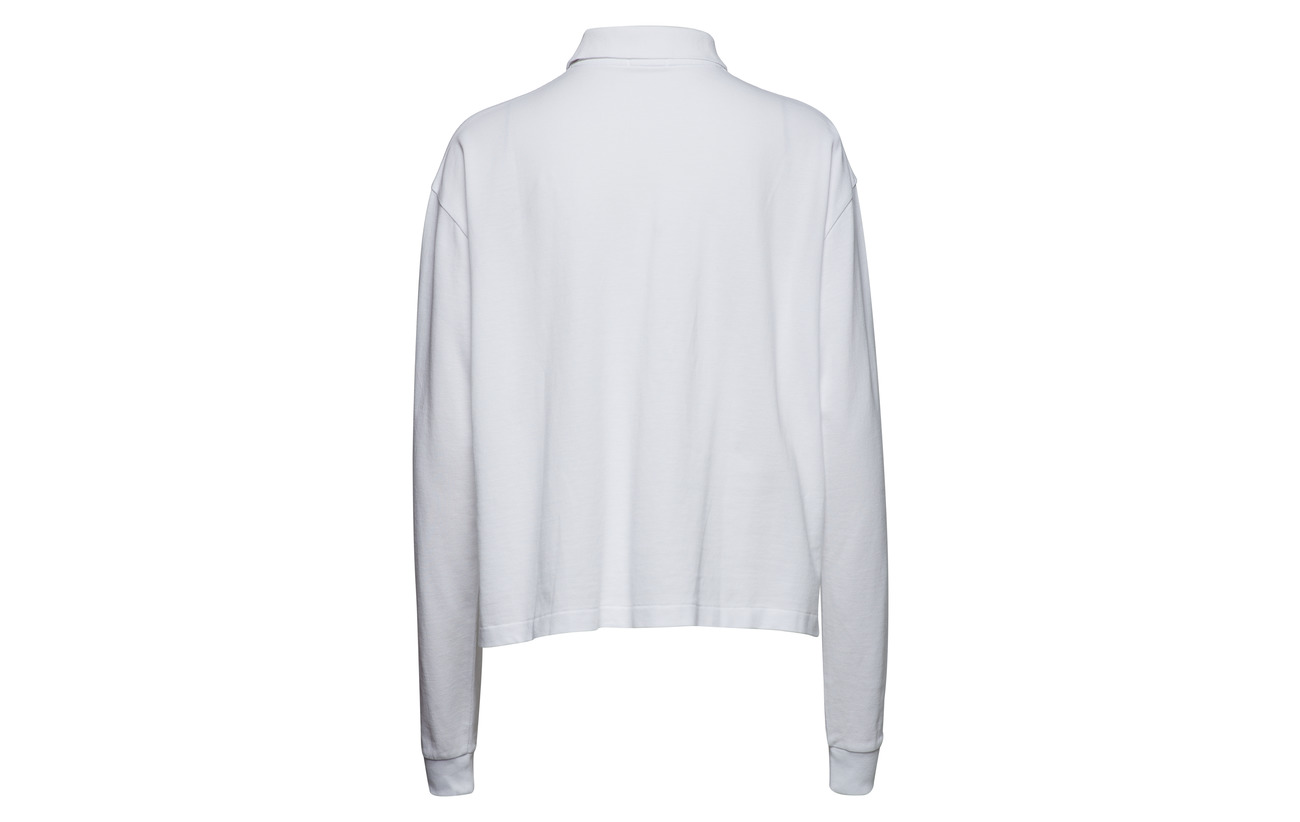 Ralph Mesh Shirt Navy Coton 100 Polo Cropped Lauren Newport gdBxq7O