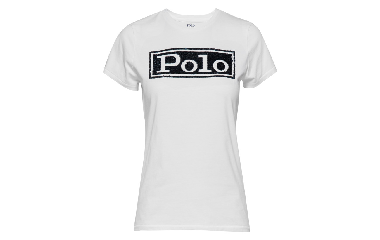 Coton Polo 100 Crewneck Cruise Logo Lauren Navy shirt Cotton Ralph T xqxrwCvz