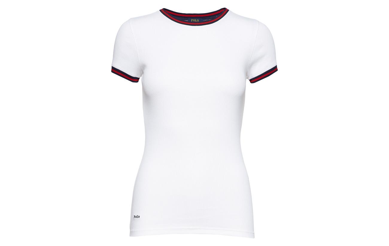 Lauren Ralph Coton Polo Cotton Shirt 100 Ribbed White 5dgwgqv