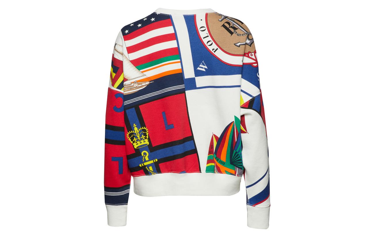 Pullover Mu Fleece 84 Ralph White 16 Lauren Deckwash Polo Sailboat Polyester Coton xU7aqnB