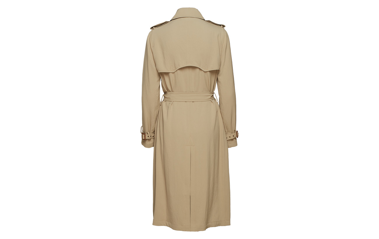Coat Lauren Khaki Twill Trench Ralph Triacetate Polo Desert 100 wqxI56yYE