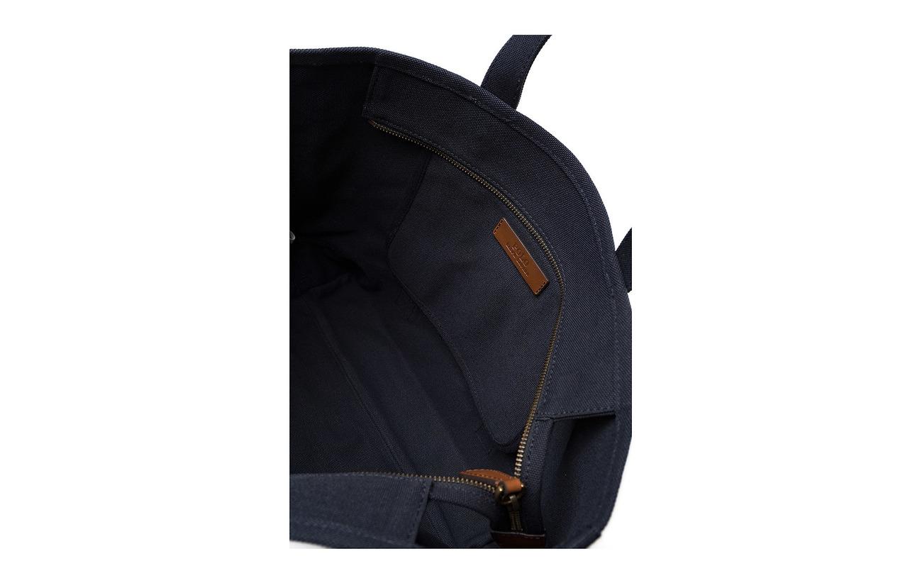 100 Ralph Lauren Polo Tote Canvas Navy Coton Bag Aviator RqCnxPSw
