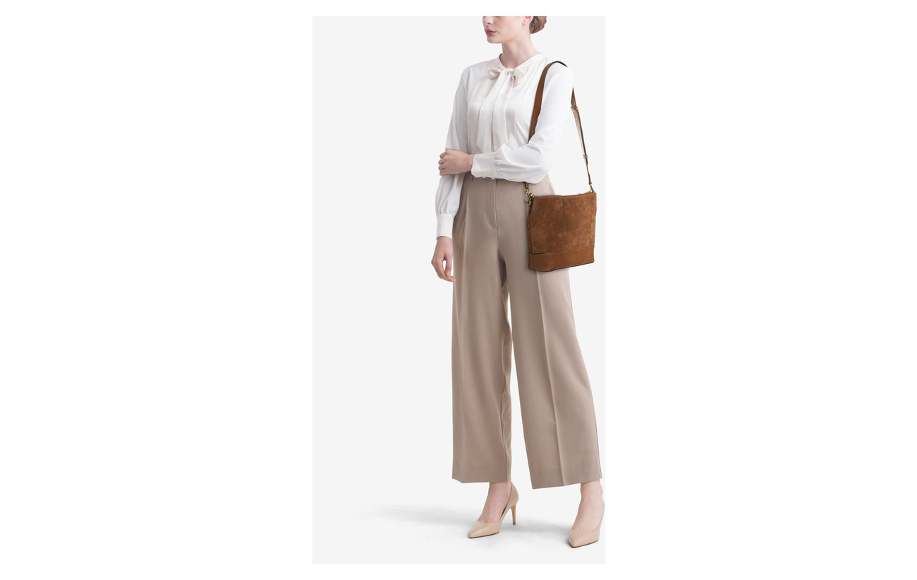 Ralph Lauren Leather Saddle Small Coton Bordure Bag Polo Hobo 100 Suede d4wqWZO