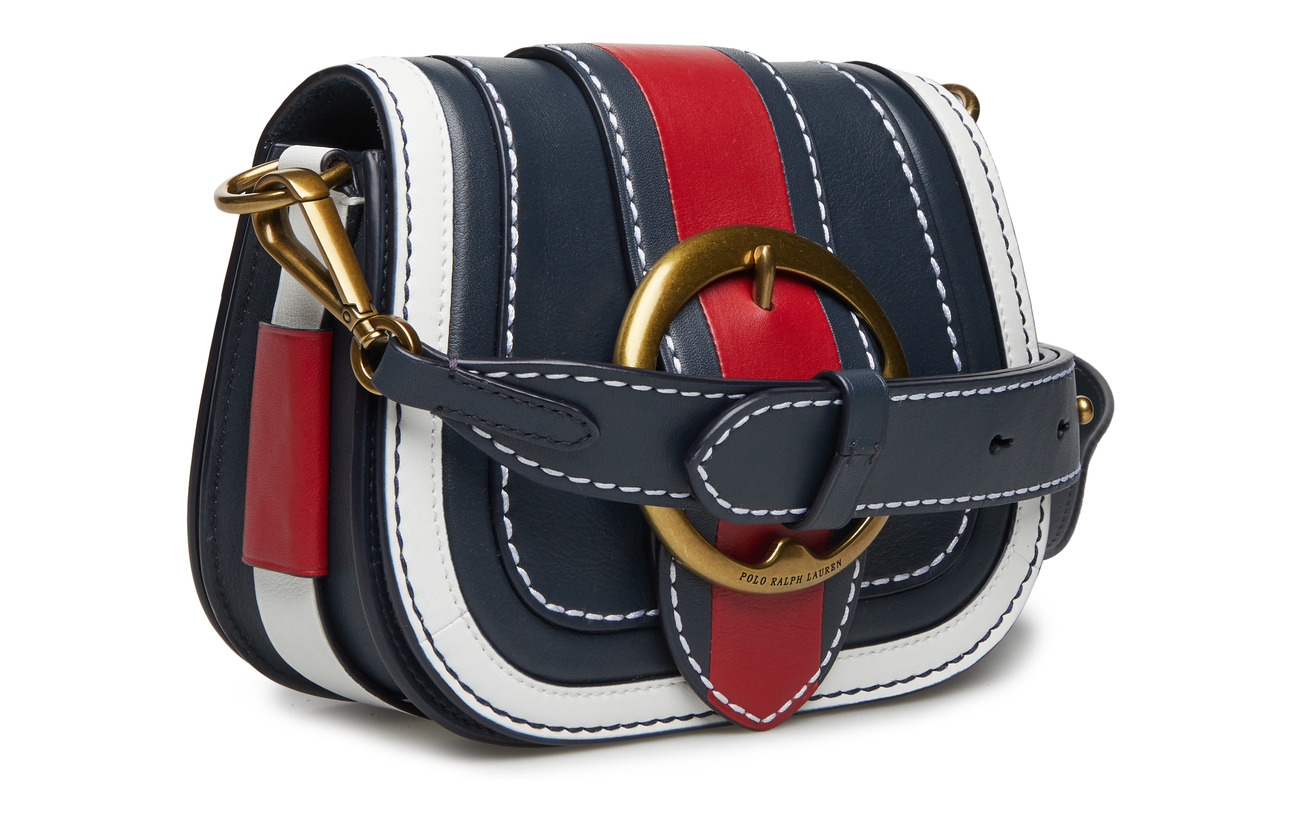 white Piecing 100 Saddle Ralph Leather Peau Navy belt red Vache Lauren med De cxb Polo qPvtxpwXq