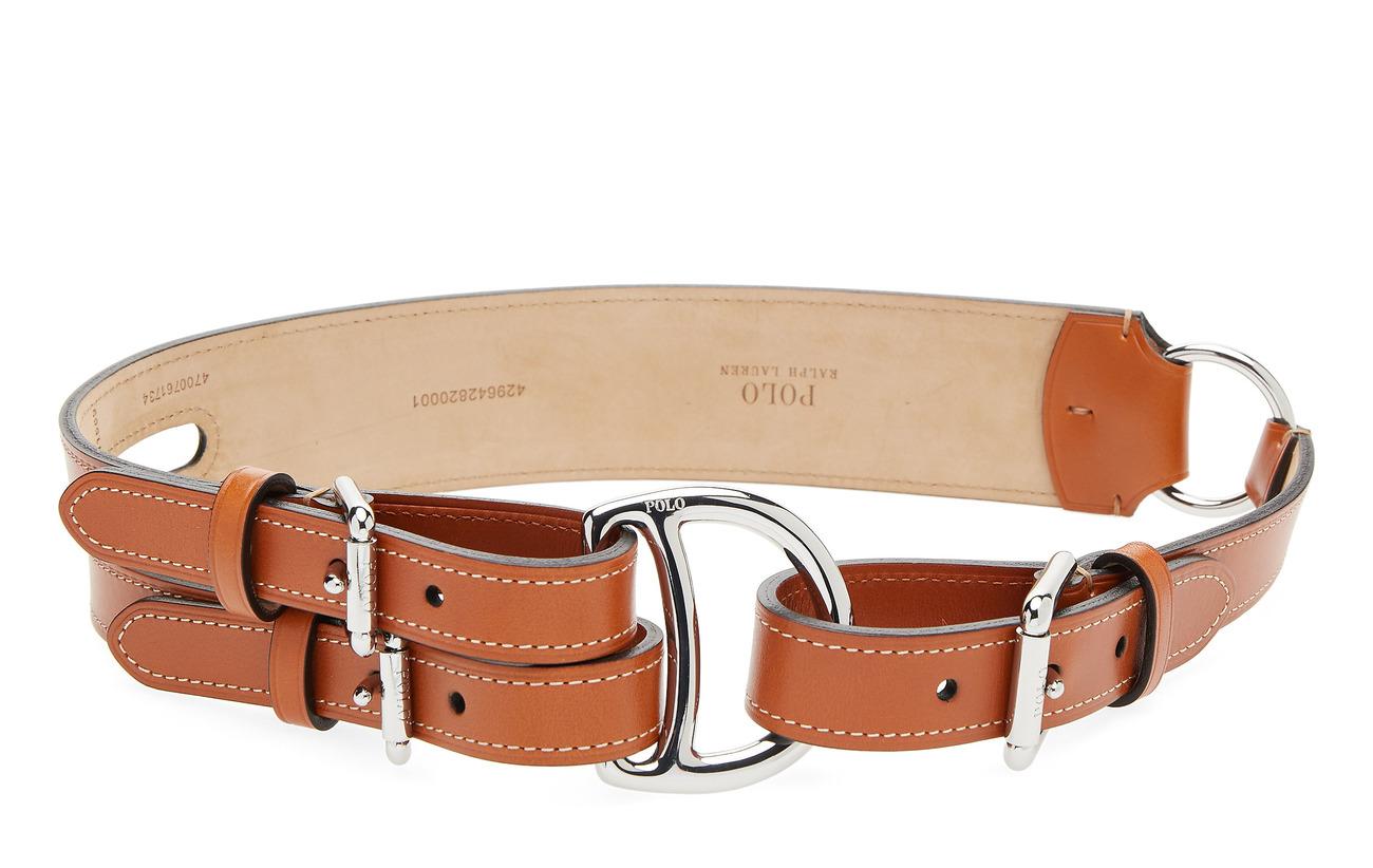 Polo Ralph Lauren Tri-Strap Leather Belt - CARAMEL