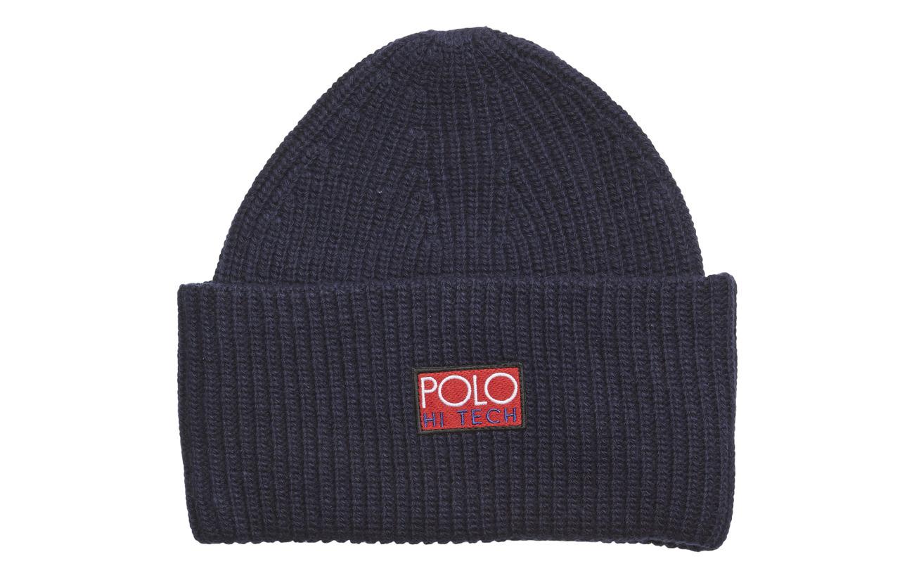 85ad5688 Acr/nyl/wl-polo Hi-tech Beanie (Hunter Navy) (£26.95) - Polo Ralph ...