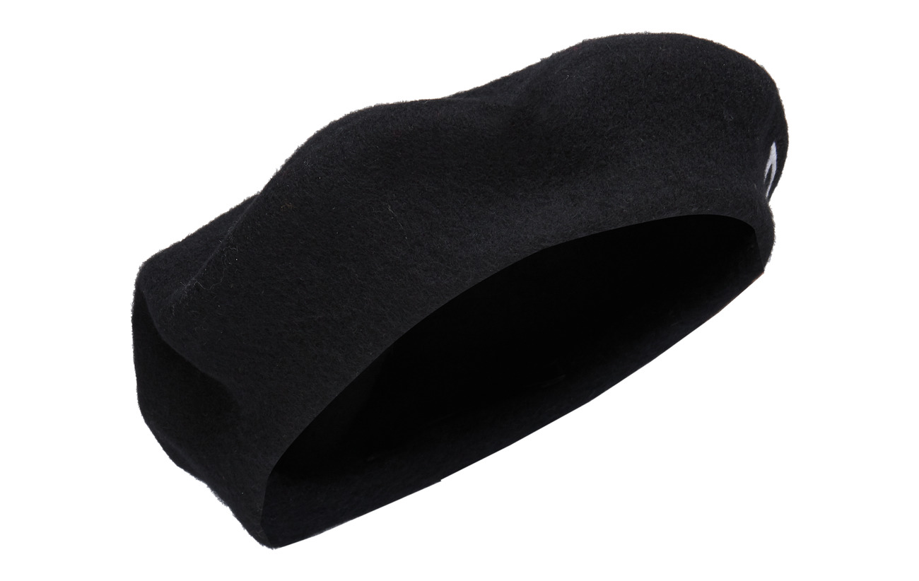 Polo Ralph Lauren WOOL-LOGO BERET-HAT-WOL - BLACK